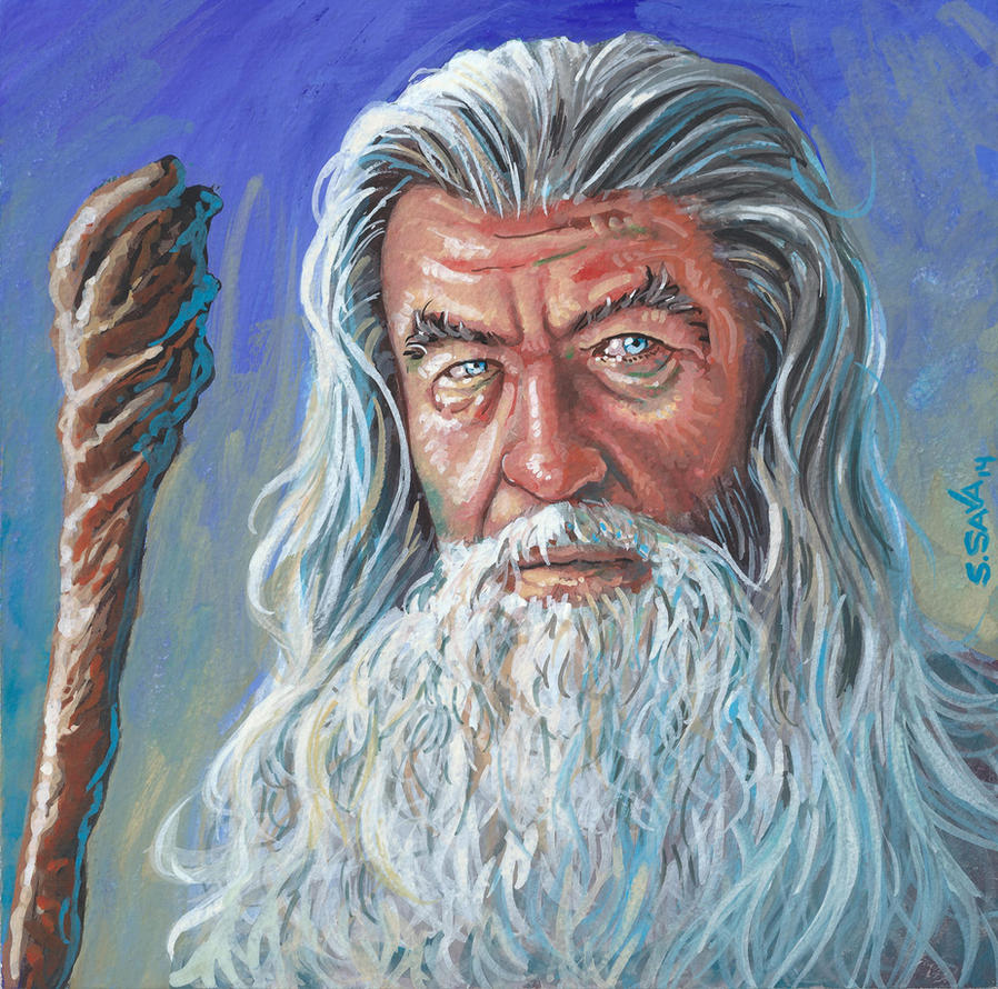 Gandalf gouache painting... by ssava