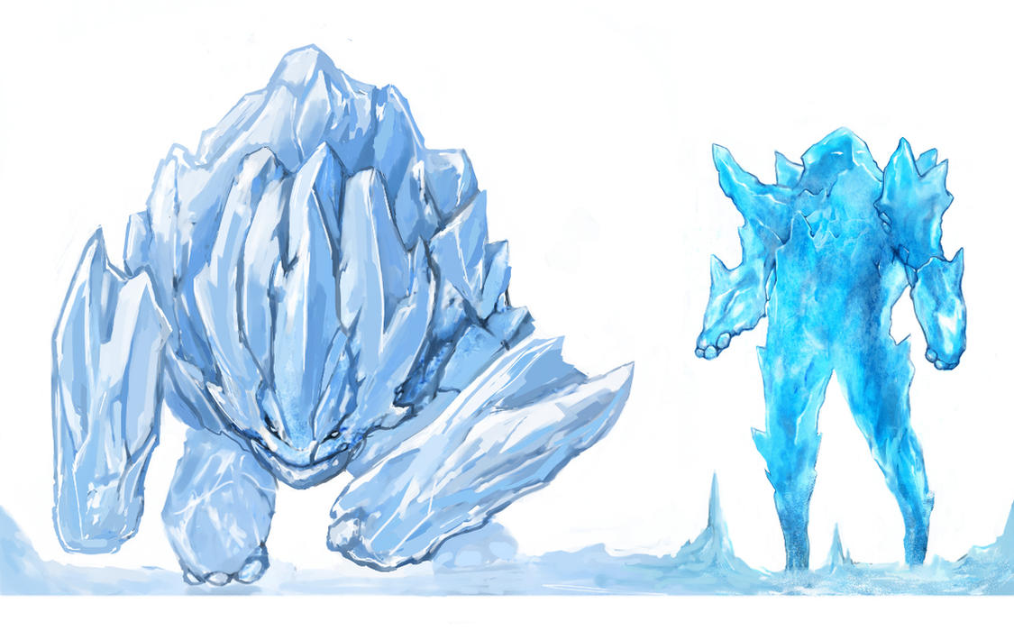 Ice golems by Shuty9