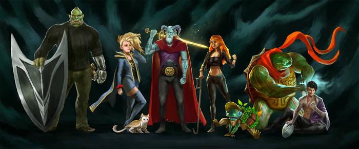 Commission: Dnd Group illustration
