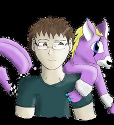 Shinji and Tobucatmon by Runenkatze