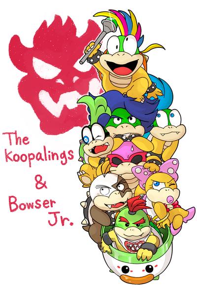 Koopalings And Bowser Jr By Hoshikagami On Deviantart