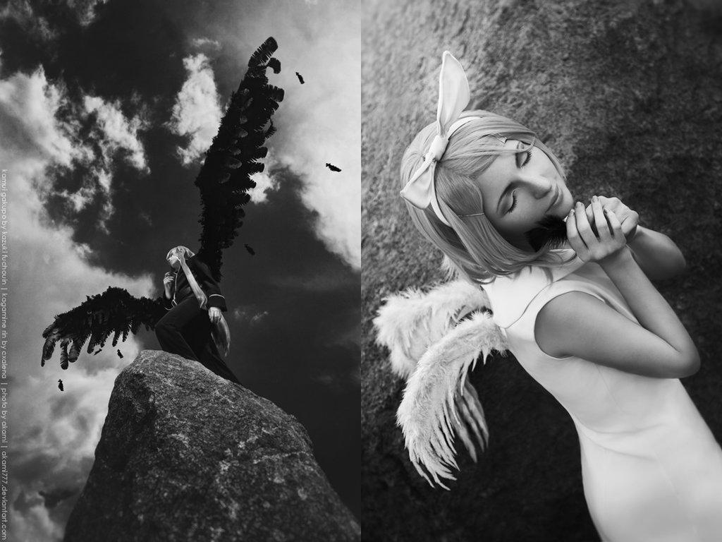 Vocaloid - Black Wings by Kazuki-Fuchouin
