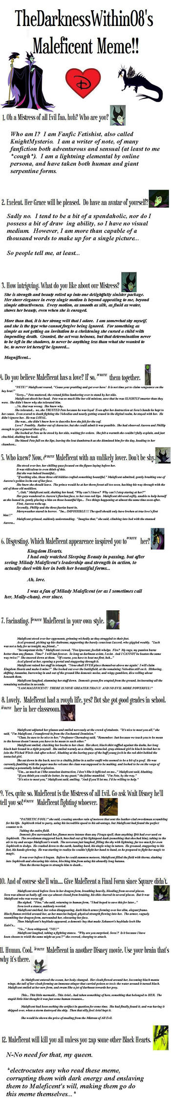 Maleficent Meme by FanficFetishist