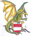 Dragon with a heraldry