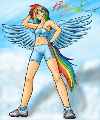 Rainbow Dash by seraphim-kimiko