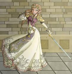Twilight Warrior Zelda by seraphim-kimiko