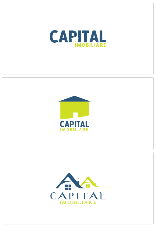 Capital real estate logo by f3nta