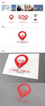 Carpe Diem travel brand concept