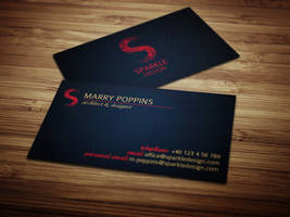 Sparkle Design Business Card by f3nta