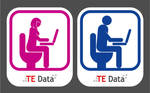 TE Data Toilet signs