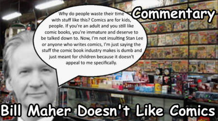 Billl Maher Doesn't Like Comics by NaitaidaiFoxxoll