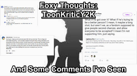 ToonkriticY2k and Some Comments I've Seen by NaitaidaiFoxxoll