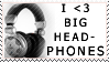 Big Headphones Stamp by Pikuna