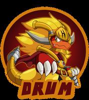 :Badge Commission: Drum by Pikuna
