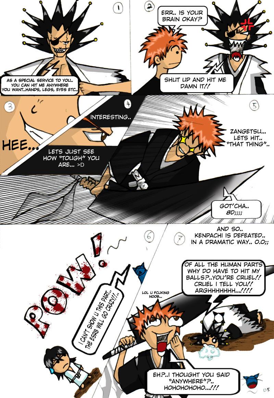 baka comix+kenpachi vs ichigo+ by vatenkeist