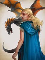 Game of thrones fan art - Daenerys Targaryen by ynorka