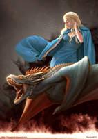 Daenerys n Drogon by ynorka