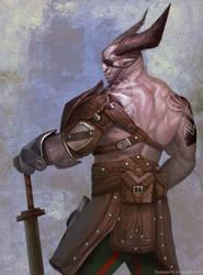 The Iron Bull (with vitaar/tattoo and armor)