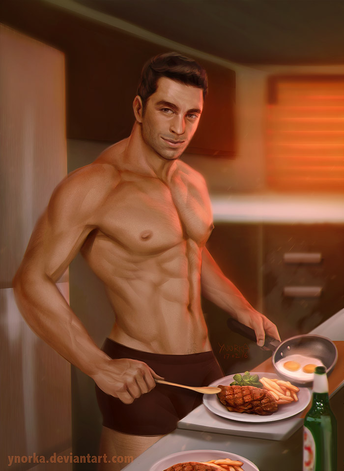 Dinner with Kaidan by ynorka