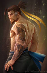 Hanzo (Overwatch) by ynorka
