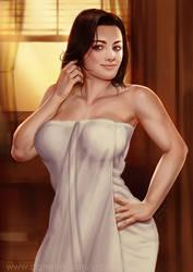 Miranda in towel by ynorka