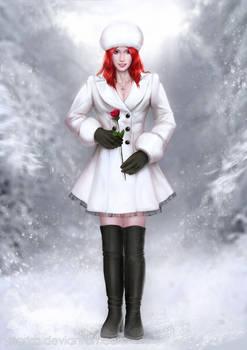 Britt in the snow