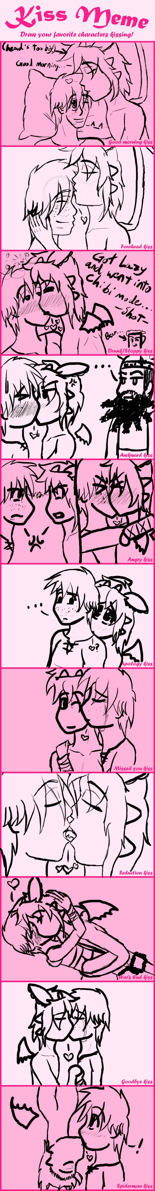 My Top 14 Favorite Kiss Scenes Meme by StellarFairy on ...  |Midnight Kiss Meme