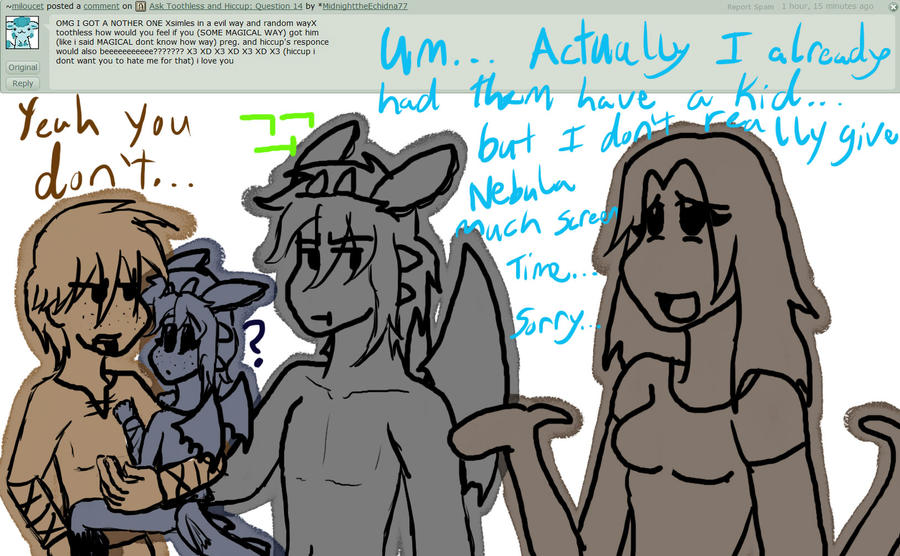 Ask Toothless and Hiccup: Question 16 by Midnight7716