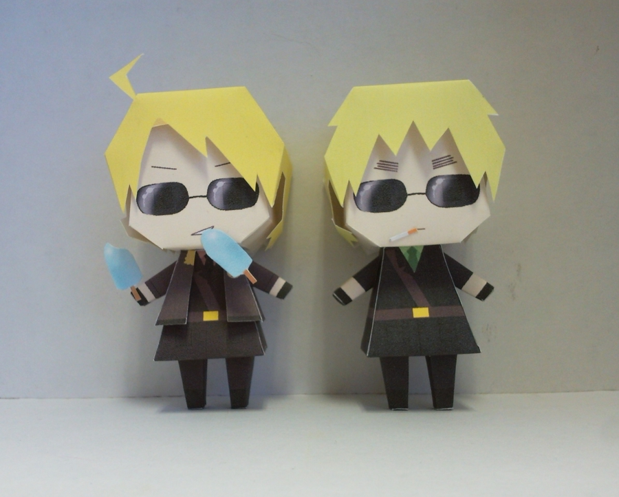Tecktonik America and England papercraft preview by DandelmiNia