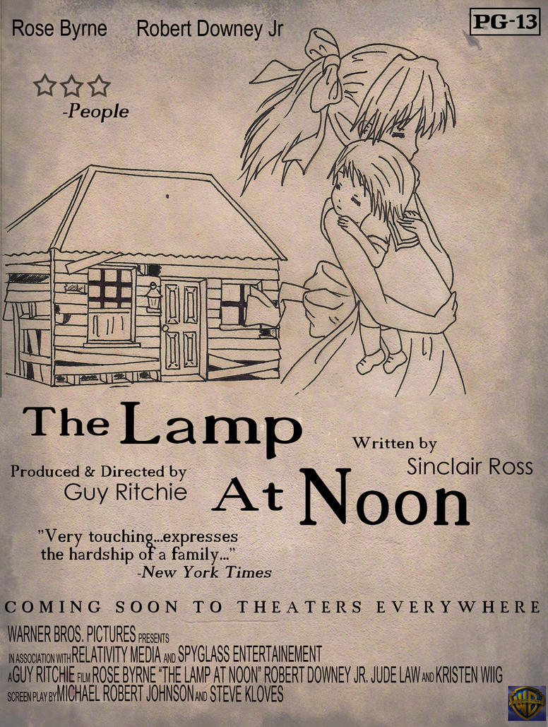 the lamp at noon The story the lamp at noon takes place during the depression probably in the dust bowl the winds and drought were so severe that nothing could be grownconsequently, farmers had to abandon their lands this is the setting for the story.