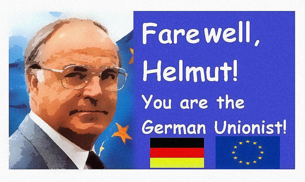 Helmut Kohl German Unionist by BernardoDisco