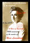 Rosa Luxemburg 100th anniversary 1919 2019  by BernardoDisco