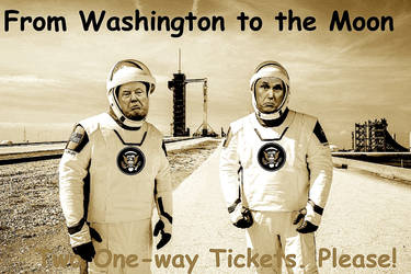 Trump Pence Sepia Two Oneway Tickets Please