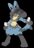 Lucario Paint Splatter Graphics by HollysHobbies