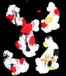 Koi Splatter Art 2