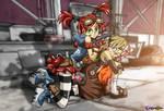 Gaige the Mechromancer + Tiny Tina the Bomb Maker