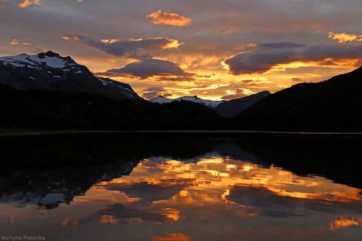 Blazing reflection
