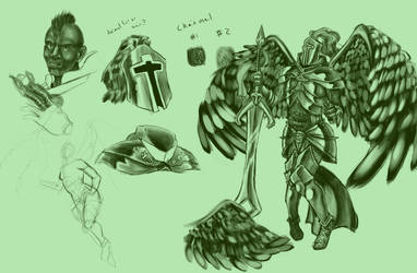LoL: Viridian Skin Kayle by Axel-will-own-you