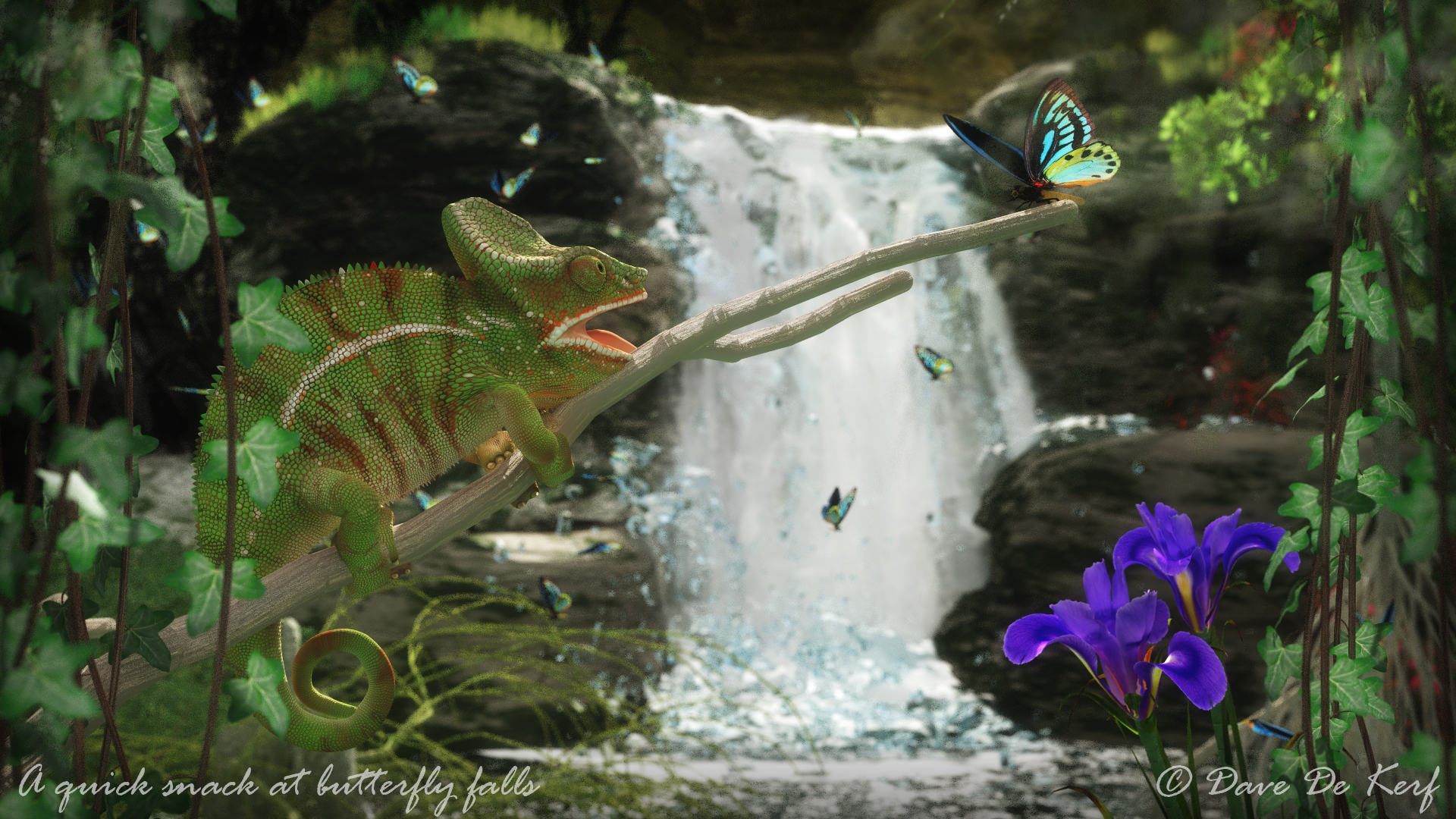 A quick snack at butterfly falls