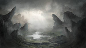 Painting a Fantasy Environment in Photoshop by Dave-DK