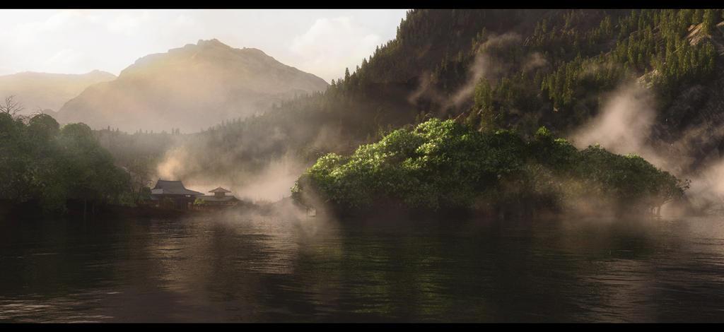 Morning Lake by Dave-DK