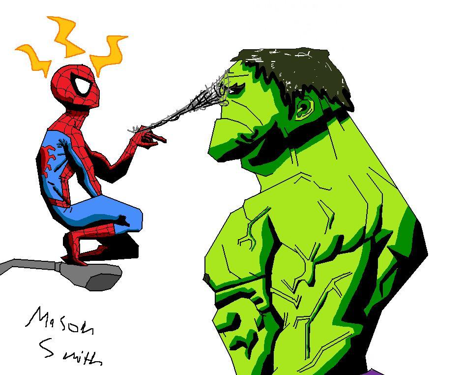 hulk vs spiderman by spideyxraefan on deviantart