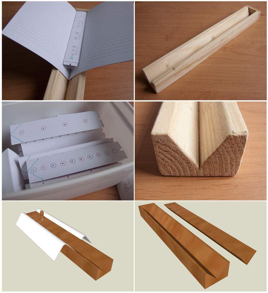 Wooden Book Cover Diy : Diy section punch tool by marenne on deviantart