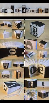 Experiments with letters by BoekBindBoetiek