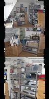 My bookbinding studio