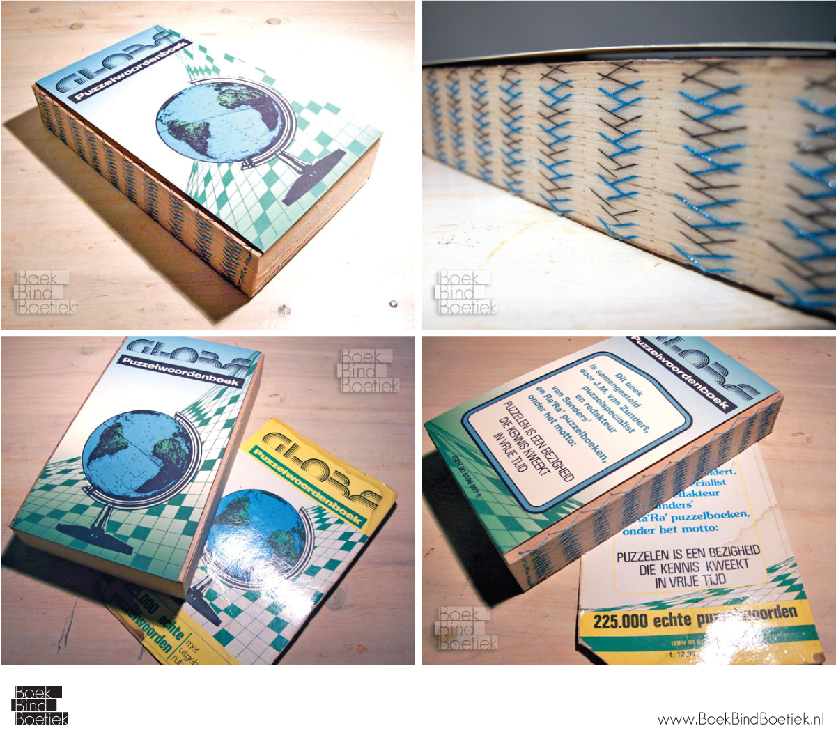 Globe Puzzle Dictionary Rebinding by Marenne
