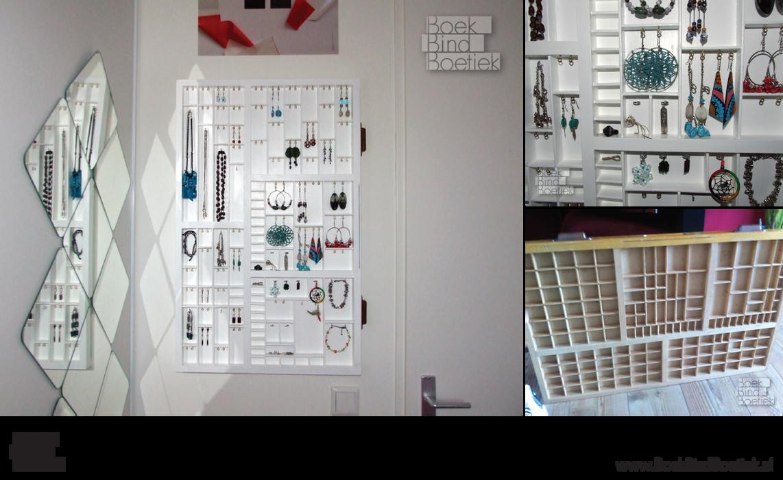 Letterpress Drawer Jewelry Frame by Marenne