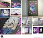 A Carpet of Purple Flowers - Custom Novel by BoekBindBoetiek