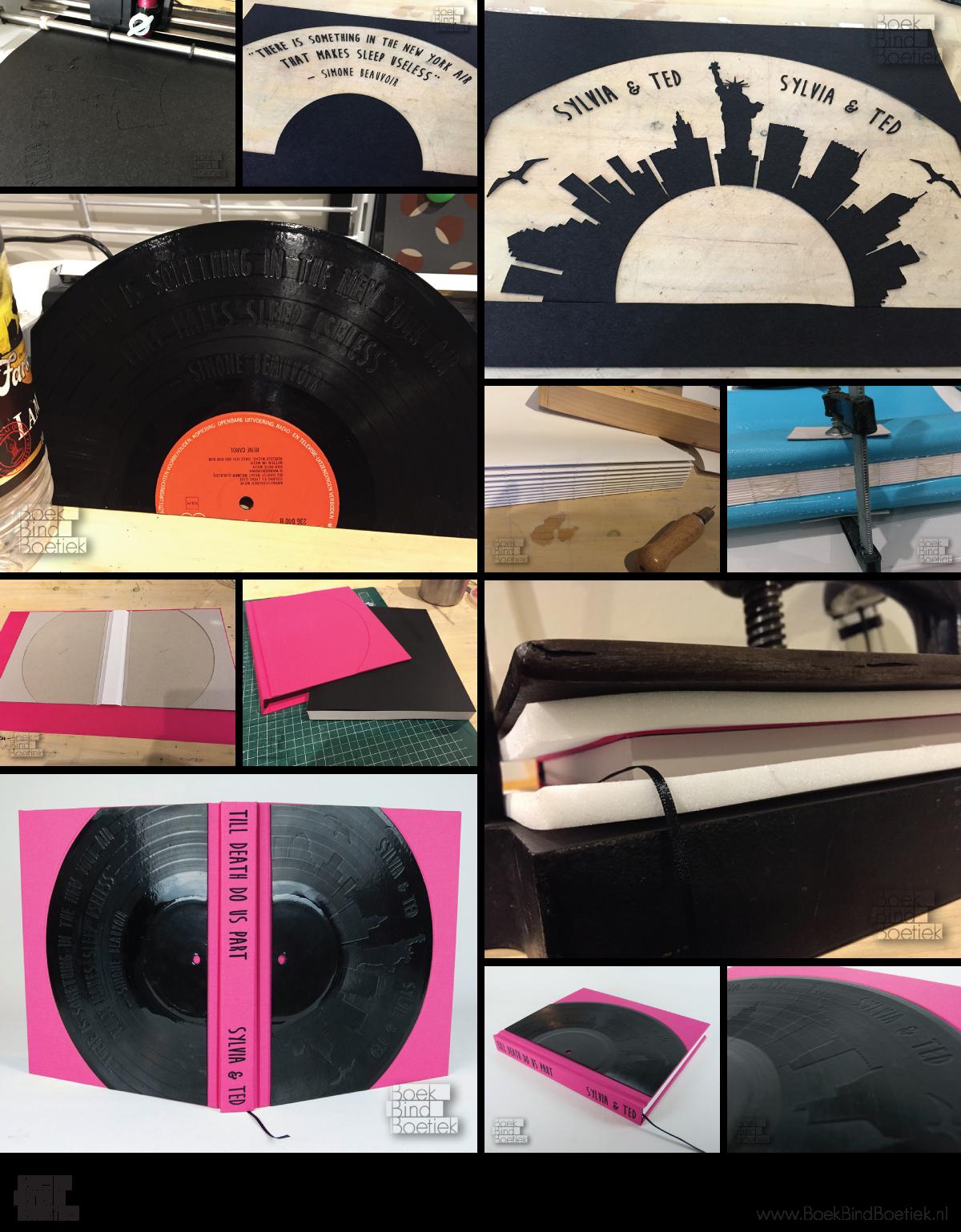 Vinyl Record Book Cover Diy ~ Bookbinding diy tutorials and visuals by boekbindboetiek