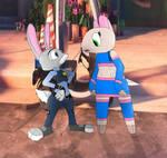 Maydine and Judy Hopps